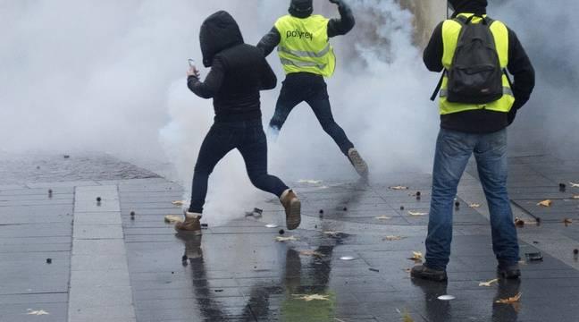 «Gilets jaunes» à Nantes: Seize interpellations et des blessés légers lors de la manifestation