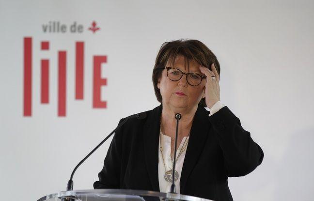 Lille, le 17 janvier 2019. Martine Aubry, maire PS de Lille, presente ses voeux a la presse sur une peniche sur le canal de le Deule.