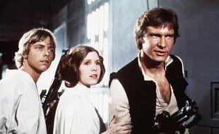 Les acteurs Mark Hamill, Carrie Fisher et Harrison Ford dans «Star Wars, épisode IV: Un nouvel espoir»