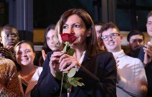 La maire de Paris et candidate du Parti socialiste (PS) à l'élection présidentielle française de 2022 Anne Hidalgo, à Paris, le 14 octobre 2021.