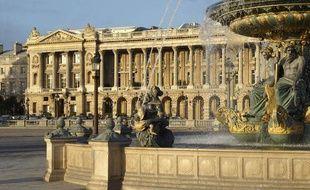 L'Hôtel Crillon place de la Concorde à Paris.
