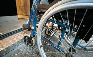 Illustration d'un fauteuil roulant.