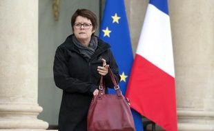 La présidente du Syndicat de la magistrature (SM, gauche) Françoise Martres à l'Elysée le 19 mars 2014