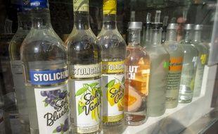 Des bouteilles d'alcool (Illustration).