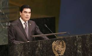 Gurbanguly Berdimuhamedow, président du Turkménistan depuis 2006.