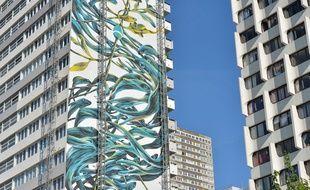 La fresque de Pantónio, place de Vénétie à Paris
