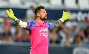Benoît Costil, ici lors du match nul entre Bordeaux et Montpellier (1-1) le 17 août. NICOLAS TUCAT