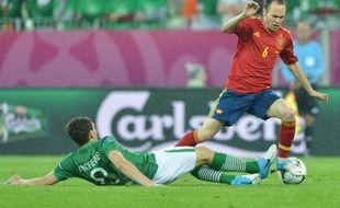 L'Espagnol Andres Iniesta contre l'Irlande, le 14 juin 2012 à Gdansk.