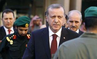 Recep Tayyip Erdogan le 25 janvier 2015.
