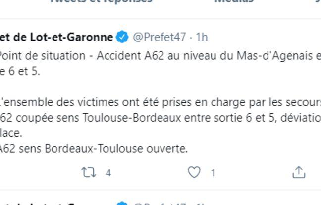 Tweet de la préfecture du Lot-et-Garonne