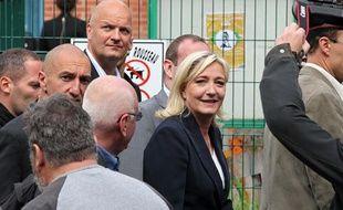 Marine Le Pen votait à Hénin-Beaumont au premier tour des législatives le 10 juin 2012.