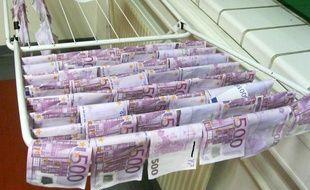 Des billets de 500 euros au séchage (illustration).