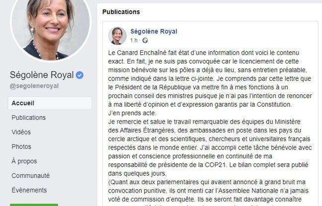 Pour Ségolène Royal, l'heure est déjà à la contre-attaque
