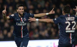 Javier Pastore fête son but lors de la victoire du PSG à Metz le 21 novembre 2014.