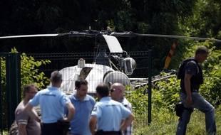 L'hélicoptère utilisé pour l'évasion de Redoine Faïd a été retrouvé par la police le 1er juillet 2018 à Gonesse.