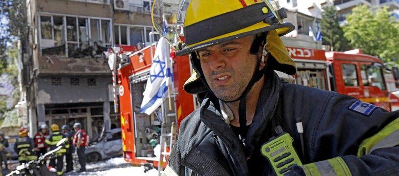 Un pompiers israélien à Tel Aviv, le 15 mai 2021 (Illustration).