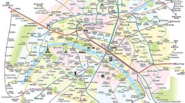 La carte d'Antoine Raby présente les arrondissements et parcs de Paris. –  Antoine Raby pour checkmymap