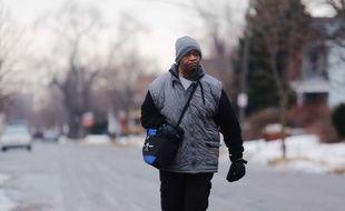 James Robertson, travailleur de Detroit, en janvier 2015.