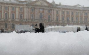 Toulouse, le 3 fÈvrier 2015 - Chutes de neige dans les rues de Toulouse