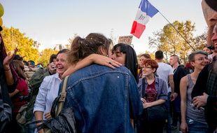 Manifestation en faveur du Mariage pour tous à Paris en octobre 2016.