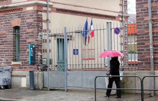 La façade du lycée Charles-Tillon, à Rennes.