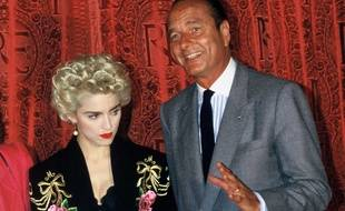Madonna et Jacques Chirac en 1987 à Paris