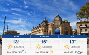 Météo Montpellier: Prévisions du samedi 28 mars 2020