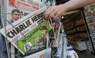 Charlie Hebdo en kiosque, en 2012, à Strasbourg.