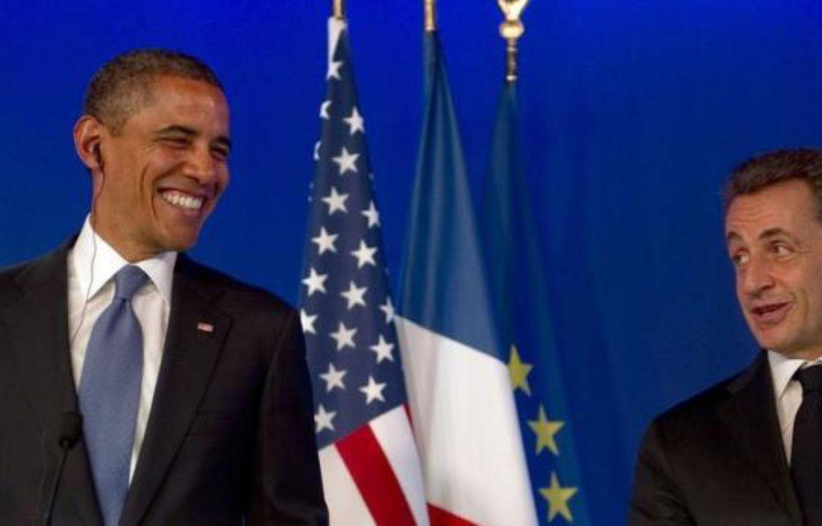 Ils sont souvent présentés comme distants ou agacés l'un par l'autre. Alors, comme à chacune de leurs rencontres, Nicolas Sarkozy et Barack Obama ont affiché à Cannes une complicité parfaite qui sera couronnée vendredi, grande première, par un entretien télévisé conjoint. – Jim Watson afp.com