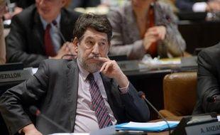 Alain Anziani (PS), chargé du dossier de la métropole à la Communauté urbaine de Bordeaux présidée par Alain Juppé, le 18 avril 2014 à Bordeaux