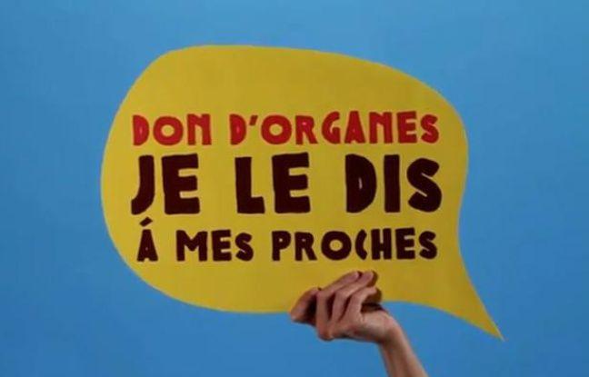 Capture d'écran de la campagne pour le don d'organes du 22 juin 2012.