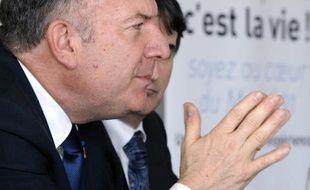 Le président du Medef Pierre Gattaz, à toulouse le 10 avril 2014