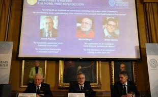 Les éminents cosmologues, James Peebles et Michel Mayor et Didier Queloz ont reçu le Nobel de physique, ce mardi 8 octobre 2019.