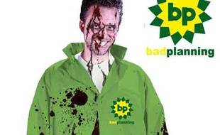 Un costume d'employé de BP créé pour les fêtes d'Halloween 2010.