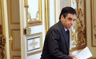 François Fillon à Matignon, le 14 janvier 2012.