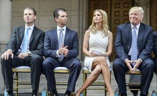 Eric, Donald Jr., Ivanka et Donald Trump à Washington, en juillet 2014.