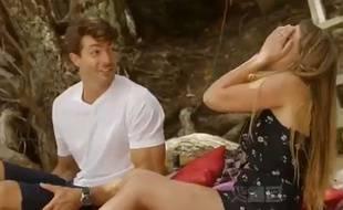 Capture d'écran de l'émission Bachelor Nouvelle-Zélande diffusé sur la chaîne TV3.
