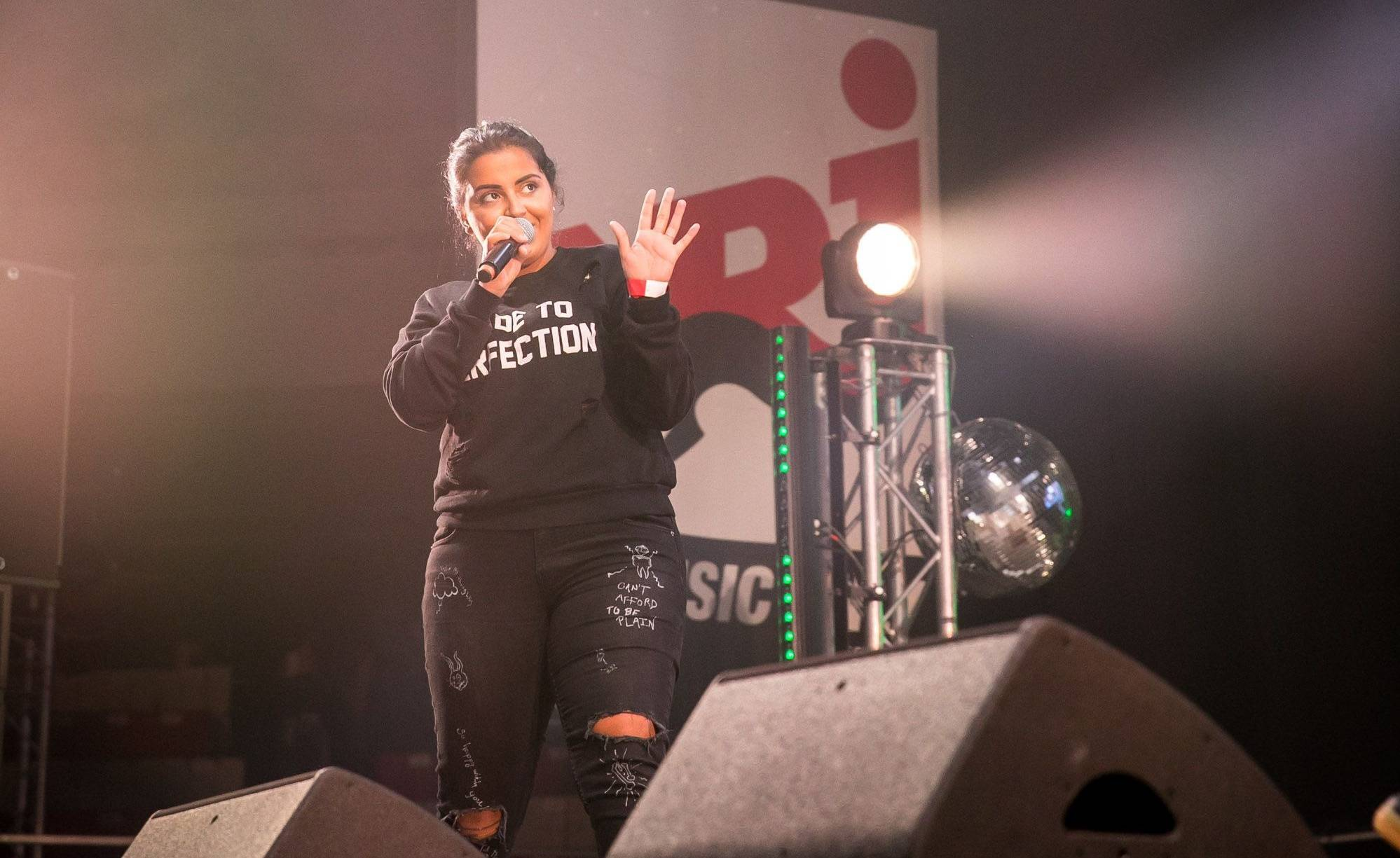 La chanteuse Marwa Loud au NRJ Music Tour en 2018.