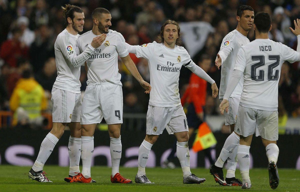 Les joueurs du Real Madrid lors d'un match contre La Corogne le 9 janvier 2016. –  Francisco Seco/AP/SIPA