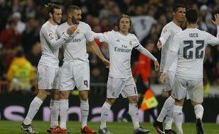 Les joueurs du Real Madrid lors d'un match contre La Corogne le 9 janvier 2016.
