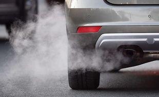 Illustration de la pollution automobile.