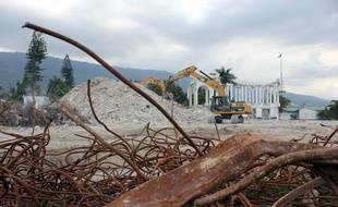 Illustration d'une catastrophe naturelle - Haïti, trois ans après le tremblement de terre.