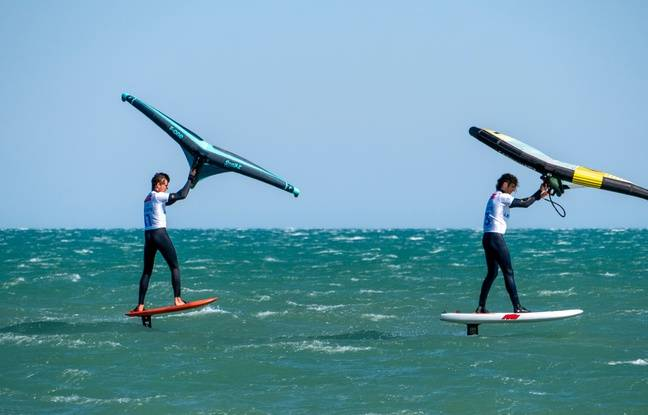 Le wingfoil est l'une des stars du Mondial du vent à Leucate