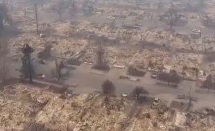 En Californie, les images aériennes des paysages dévastés par le feu, le 10 octobre 2017.