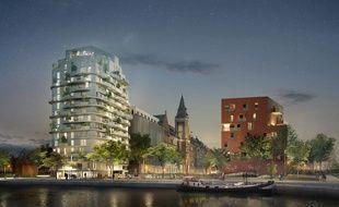 La Brooklyn tower devrait sortir de terre d'ici 2020 à Marquette-lez-Lille.