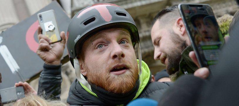 """Maxime Nicolle, alias Fly Rider, l'une des figures du mouvement des """"gilets jaunes"""" sera à Tourcoing le 23 mars pour l'acte 19."""