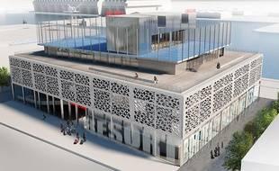 Le projet de complexe hôtelier Radisson Blu, aux Bassins à Flot à Bordeaux, comprendra un complexe sportif sur le toit