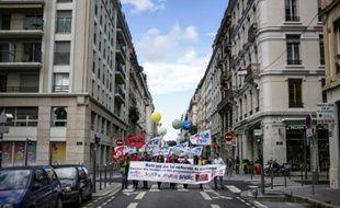 Une précédente manifestation d'enseignants, contre la réforme des collèges, à Lyon, le 17 septembre 2015