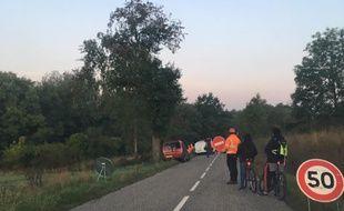 A peine les travaux préparatoires du GCO ont-ils tenté de reprendre à Kolbsheim ce mercredi 20 septembre au matin que les opposants se sont mobilisés rapidement pour l'empêcher.
