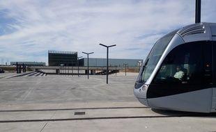 Le premier test du prolongement de la ligne T1 vers le nouveau Parc des Expo de Toulouse, le mercredi 16 octobre 2019.